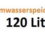 Warmwasserspeicher 120 Liter für den kleinen Haushalt
