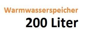 Warmwasserspeicher 200 Liter